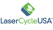 LaserCycle USA blue and green logo