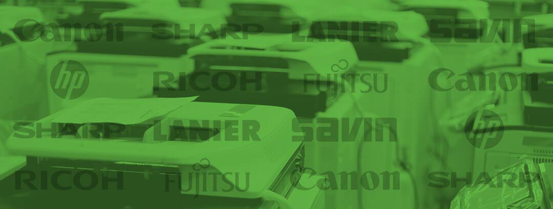 Green Printers Brands background