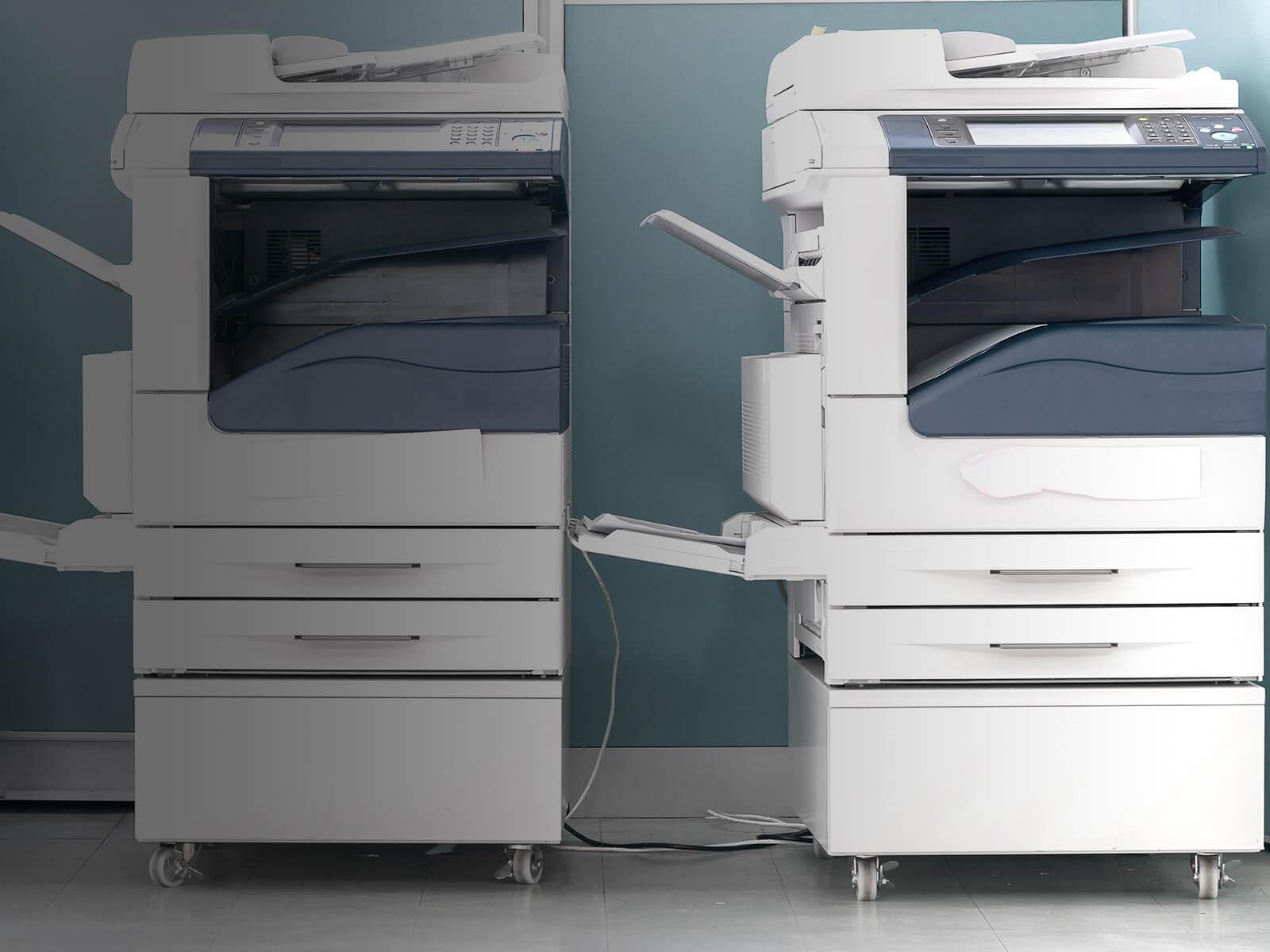 Two multi-function printers