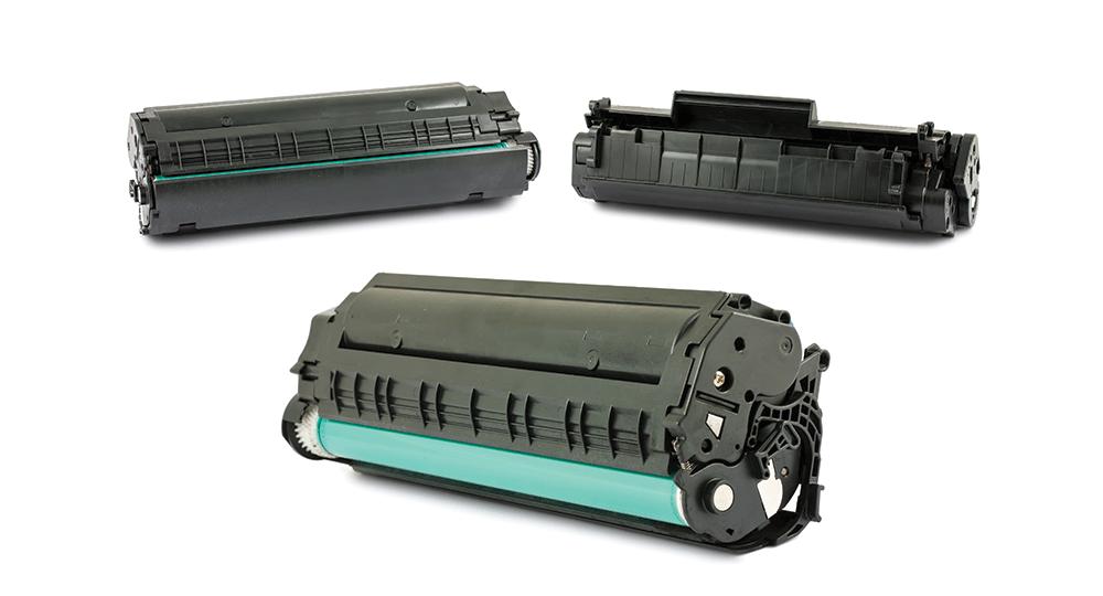 blue and black toner cartridges