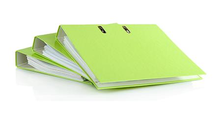 Green notebooks