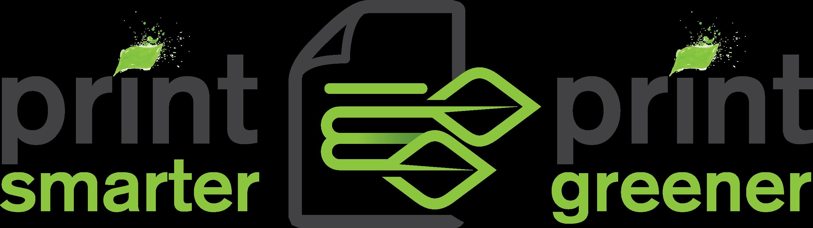 Print Smarter Print Greener Logo