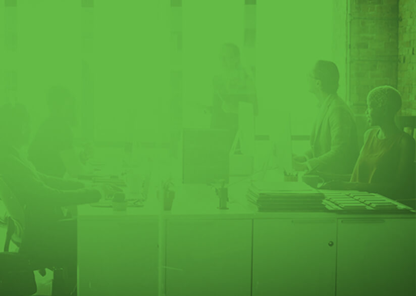 Green Office Background